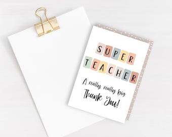 Super Teacher Card - blank inside
