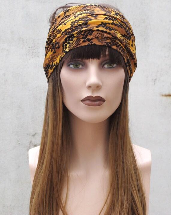 gold head scarf long jersey head wrap tie headscarf hair loss  fef28eebb78