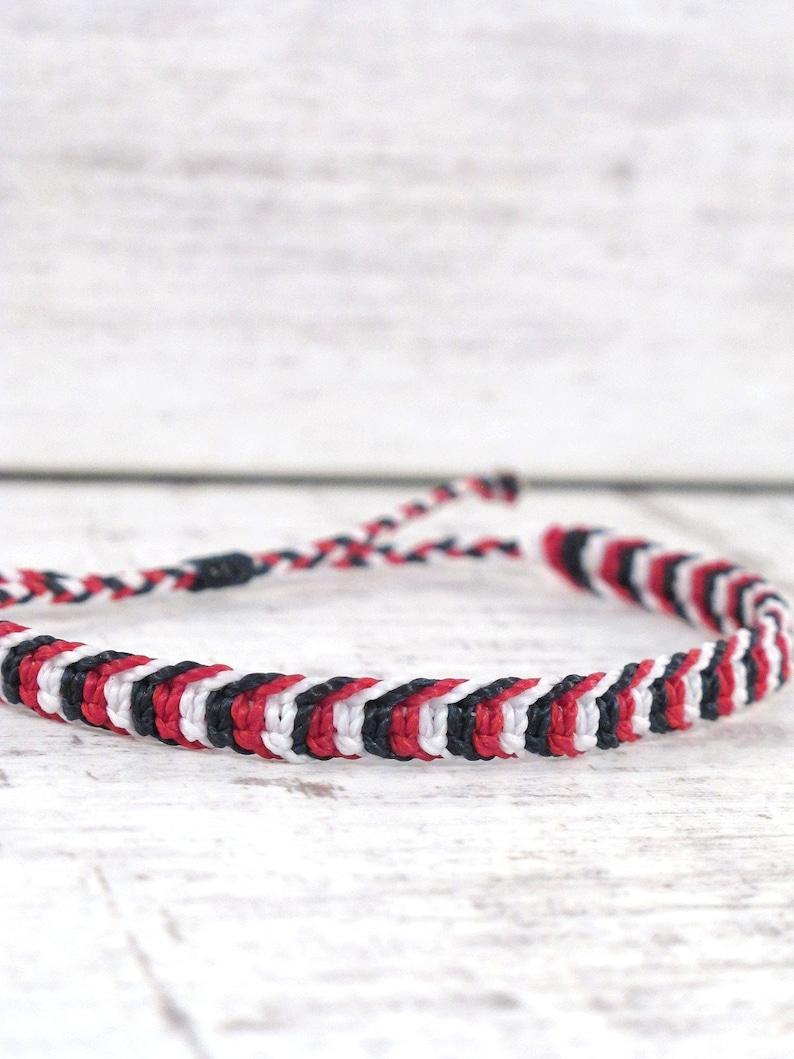 mens nautical tricolor bracelet husband macrame jewelry dad fathers day gift string bracelet friendship bracelet beach surf bracelet