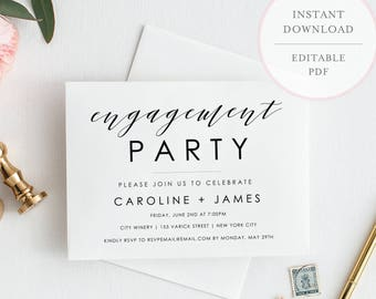 Engagement party invitation engagement party invites engagement party invitation engagement invite template editable engagement invitation engagement party invites printable invite sh stopboris Images