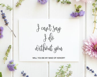 Will You Be My Maid Of Honor, Asking Maid Of Honor, Rustic Maid Of Honor, Bridal Party, Ask Maid Of Honor, Wedding  Card, INSTANT DOWNLOAD