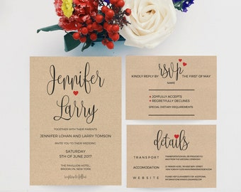 wedding invitation kits etsy ie