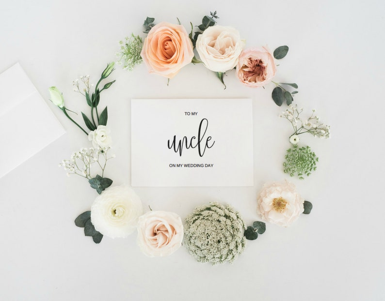 To My Uncle On My Wedding Day Card To My Uncle Card Wedding image 0