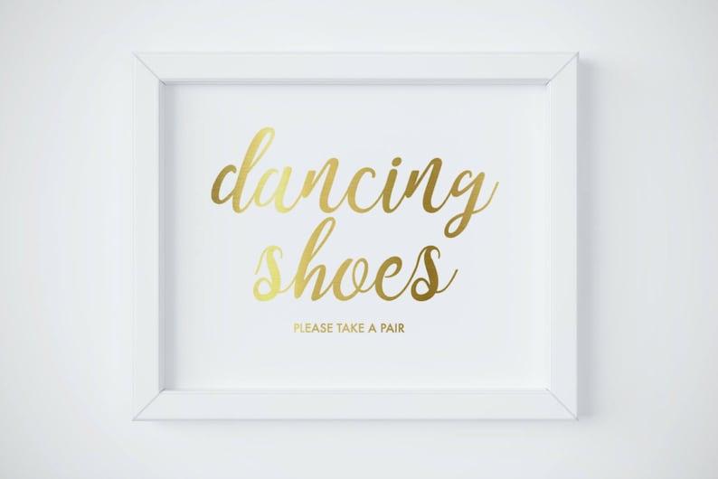 c97e5619c4dd8 Flip Flop Sign Dancing Shoes Sign Gold Wedding Reception