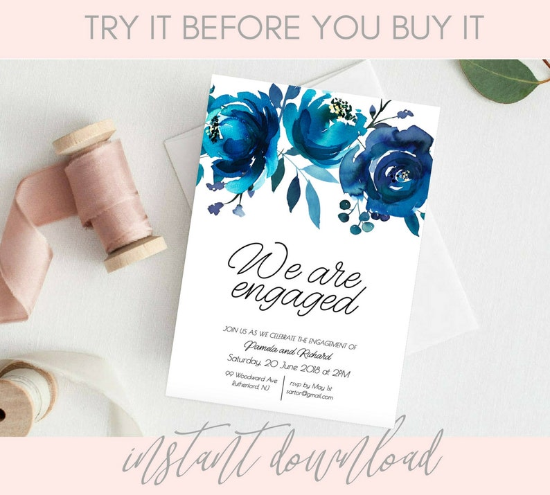 Engagement Invitation Download Templates Printable Invites Pdf For Party Card TEMPLETT