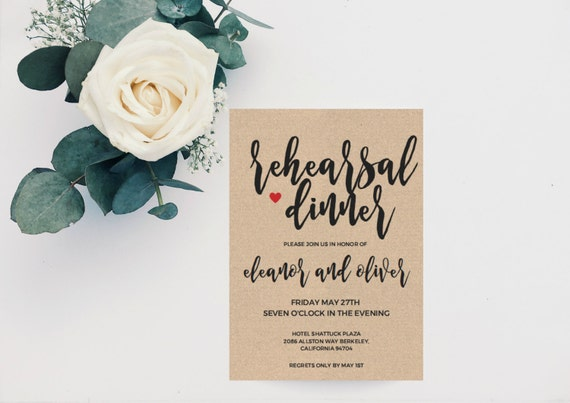 Boho Wedding Rehearsal Dinner Einladung Vorlage Probe | Etsy