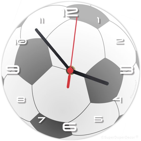 FOOTBALL WALL CLOCK - (matches our boys girls childrens bedroom decor)  soccer ball