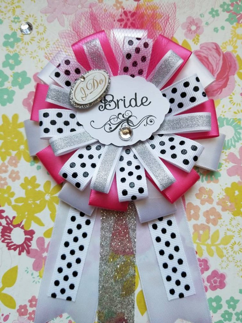 Pink and Silver Wedding Gifts Bridal Shower Bride To Be Bride To Be Corsage