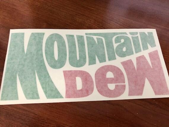 MOUNTAIN DEW NEW IN GREEN /& RED VINYL STICKER