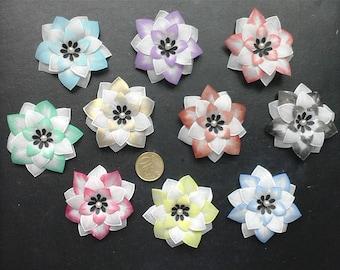 set of 10 multicolored pergamano flowers