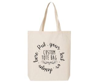 """Custom Tote Bags, 15""""W x 16""""H x 3""""D"""