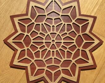 12 Sided Star Fractal Mandala