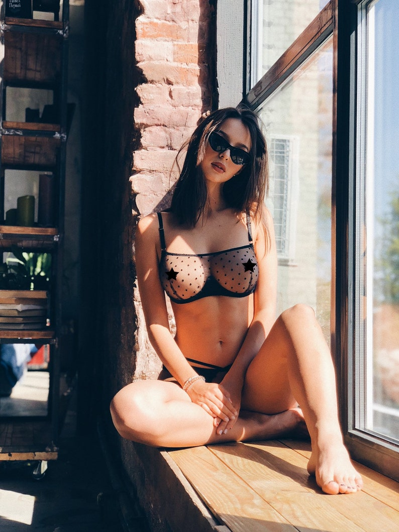65b9acd4a30 Bra see through halter bra sexy bralette transparent