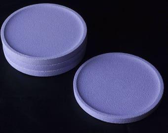 Lavender concrete coasters / / concrete Coasters / / concrete coasters / / round coaster / / round Coasters / / round coaster