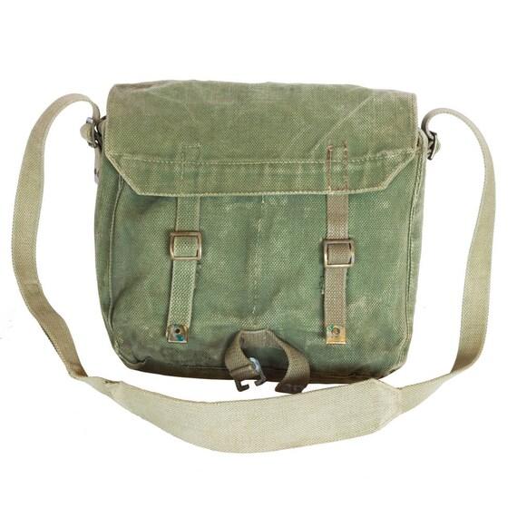 Vert Messenger Bag, Cross Body Bag, sac en toile, sac de voyage, l'armée, sac bandoulière, sac de l'armée, sac vert, extérieur cadeau homme pêche