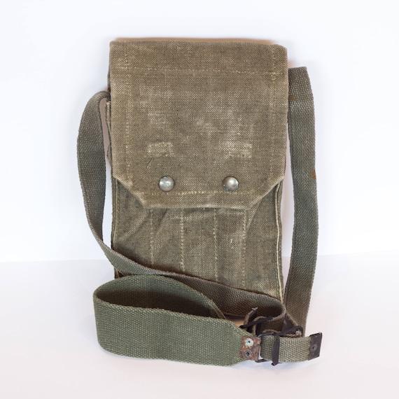 Canvas Messenger Bag Small Messenger bag Military Shoulder  b7fe5efc4f2