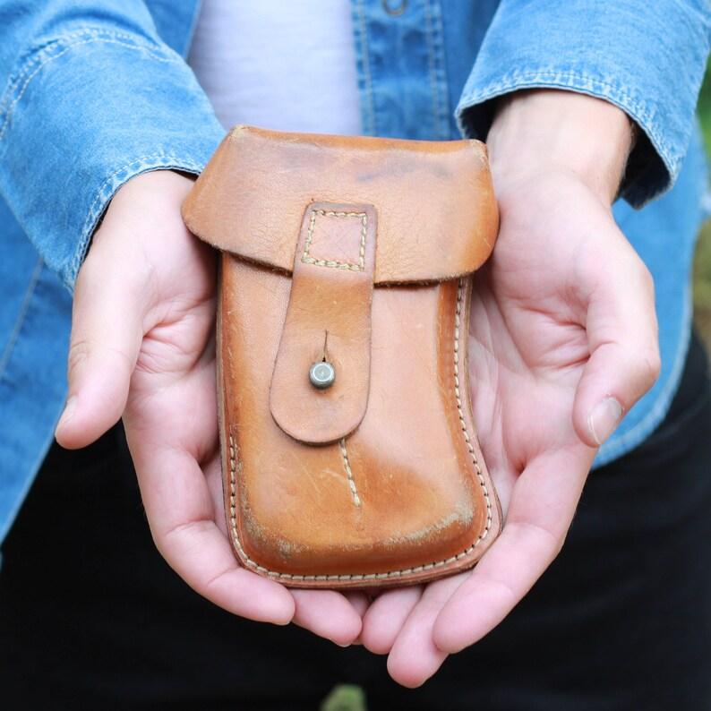715ea10b03 Armée pochette pochette en cuir étui de ceinture sac de | Etsy