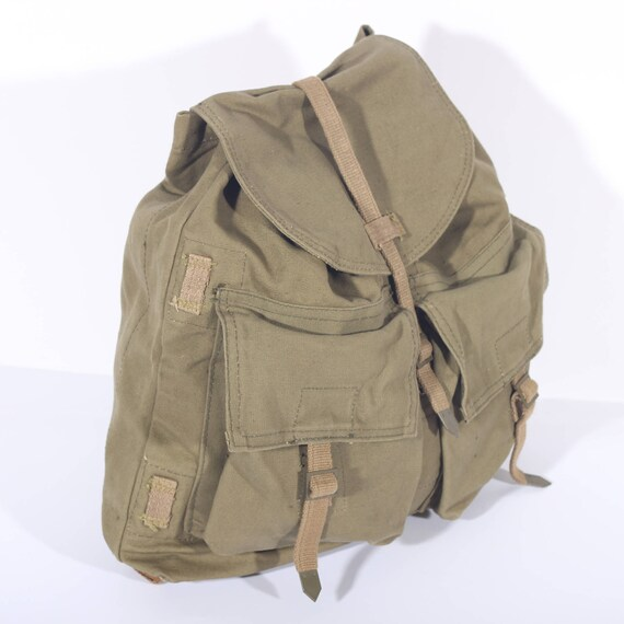 86f64c6621 Army Backpack Canvas Backpack Canvas Bag Military Bag