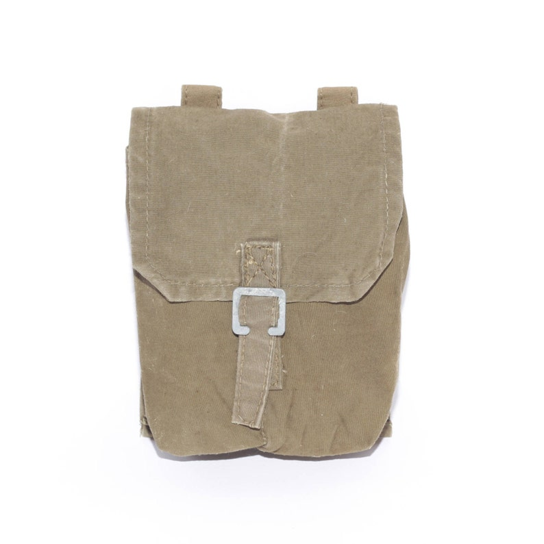 37f5a0f491 Belt Bag, Canvas Pouch, Military Holder, Ammunition Holster, Khaki Army  Pouch, Military canvas pouch, 1980s Kit Bag, outdoor survival kit