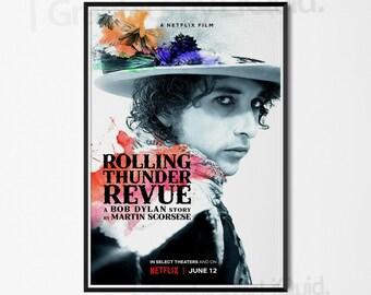 01b86a6cb Rolling Thunder Revue A Bob Dylan Story Martin Scorsese Art Poster | A4 A3  A2 A1