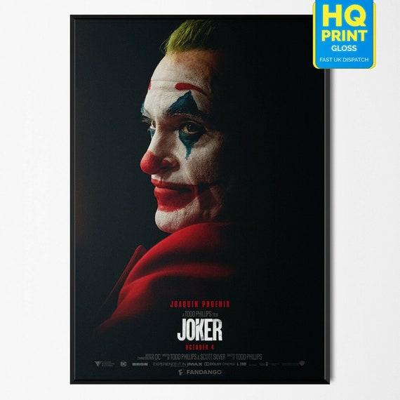 Joker 2019 Joaquin Phoenix Movie DC Comics Poster Art PrintA4 A3 A2 A1