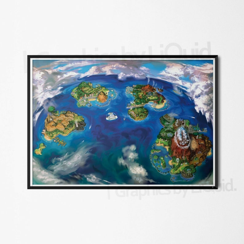 A4 A3 A2 A1 A0| Pokemon Sun And Moon Poster Print T538