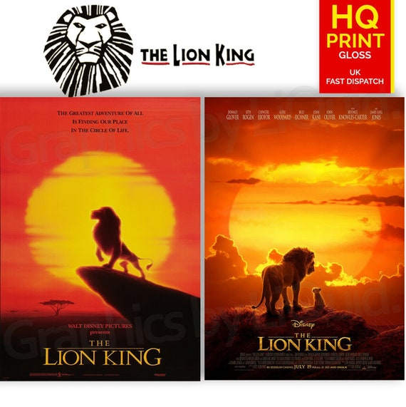 The Lion King 19942019 Animated Drama Movie Posters A4 A3 A2 A1