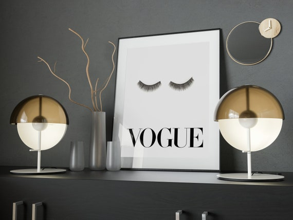 Vogue Fashion Lashes Inspirational Quote Poster Art Print A3 A4 A5 A6 Decor Wall