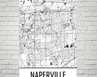 Subway Map Naperville.Naperville Print Etsy