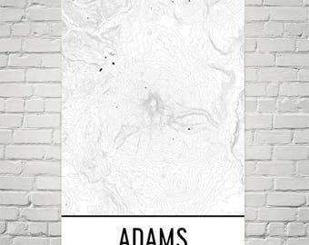 Mt Adams Washington Map.Mt Adams Etsy