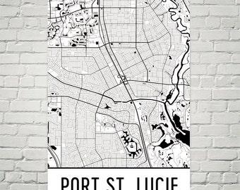 Map Of Port St Lucie Florida.Port St Lucie Fl Etsy