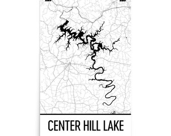 Center Hill Lake Tennessee Map.Center Hill Lake Etsy