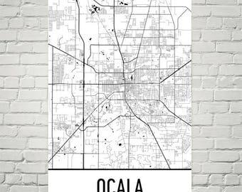 Map Of Ocala Florida.Ocala Florida Etsy