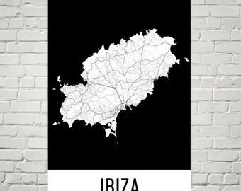 Ibiza Karte Umriss.Ibiza Karte Etsy