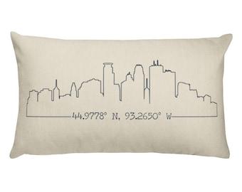 City Skyline Pillow Etsy
