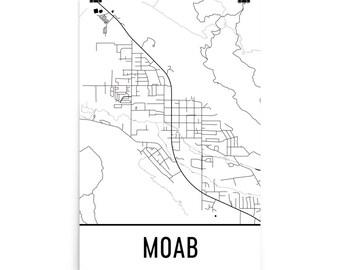 Moab map | Etsy