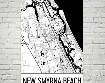 New Smyrna Beach Florida Map.New Smyrna Beach Etsy