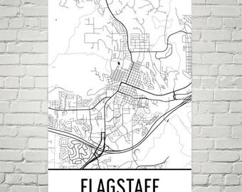 Map Of Flagstaff Arizona.Flagstaff Arizona Az Etsy