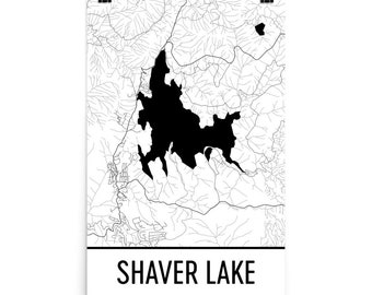 California Map Lakes.California Lake Map Etsy