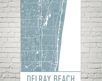 Map Of Delray Beach Florida.Delray Beach Etsy