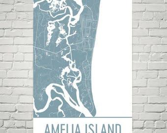 Amelia Island Florida Map.Stuart Map Stuart Art Stuart Print Stuart Fl Poster Stuart Etsy