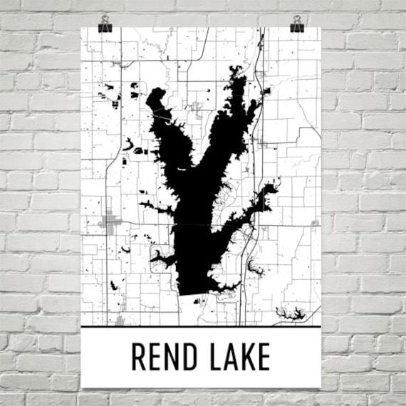 Rend Lake Illinois Map.Rend Lake Illinois Rend Lake Il Rend Lake Map Illinois Map Etsy