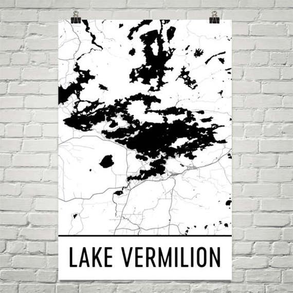 Lake Vermillion Minnesota Map.Lake Vermilion Minnesota Lake Vermilion Mn Minnesota Art Etsy