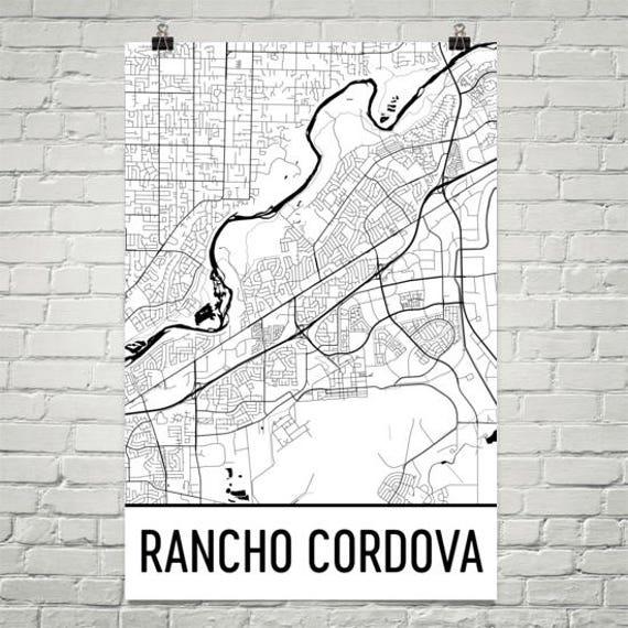 Rancho Cordova California Map.Rancho Cordova Ca Map Rancho Cordova Art Rancho Cordova Etsy