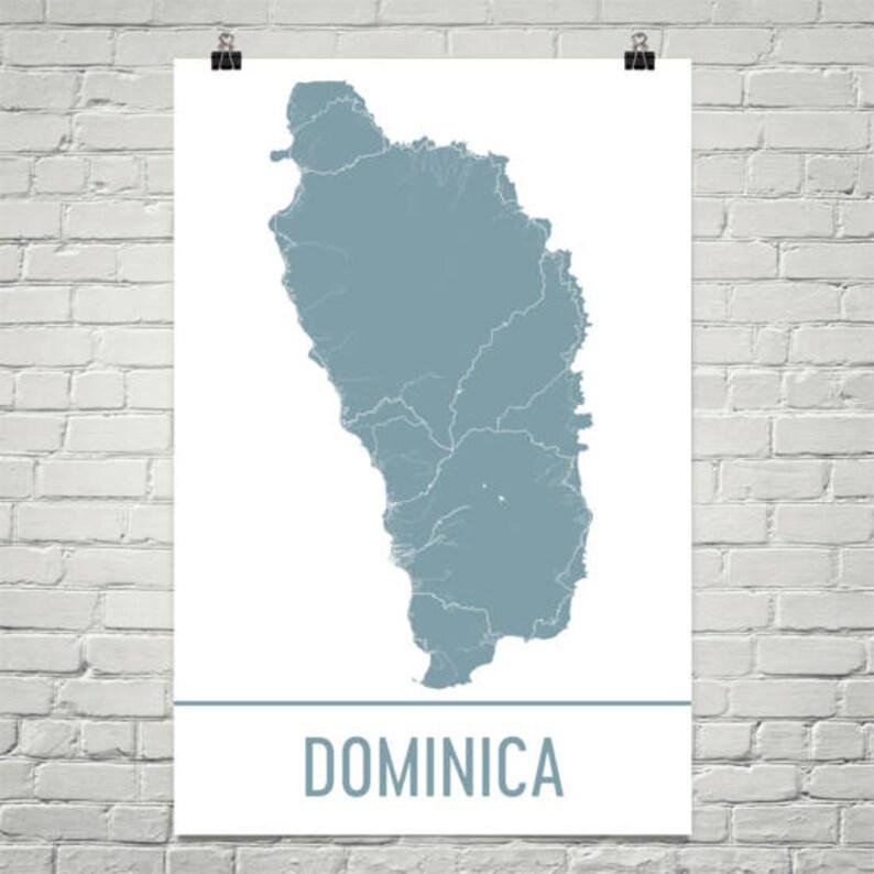 Dominica Map Dominica Art Dominica Print Dominica Island | Etsy on
