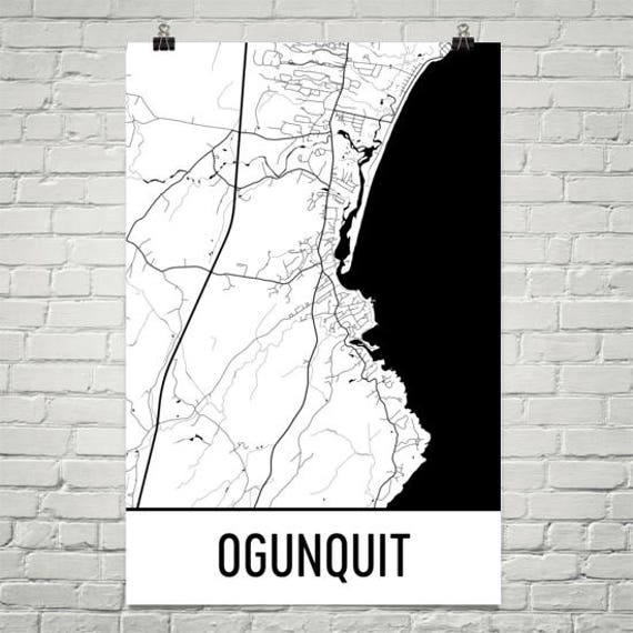 Ogunquit Maine Ogunquit Me Ogunquit Map Maine Map Maine Etsy