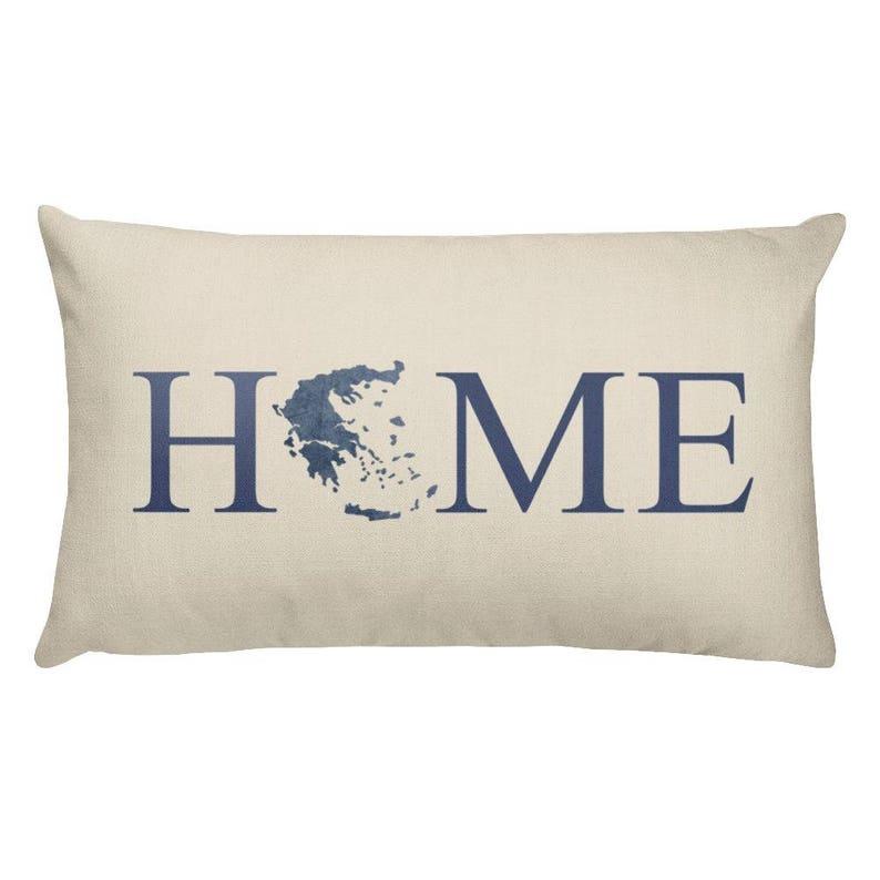 Greece Throw Pillow Greece Map Greece Pillow Greece Art Greek Art Greece Gifts Greek Decor Greece Cushion Greece Decor Greece Home