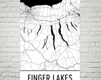 Finger Lakes, Finger Lake Map, Keuka, Cayuga, Skaneateles, Seneca, Upstate New York, Lake Art, Fishing, Lake House Art, Ithaca, Syracuse