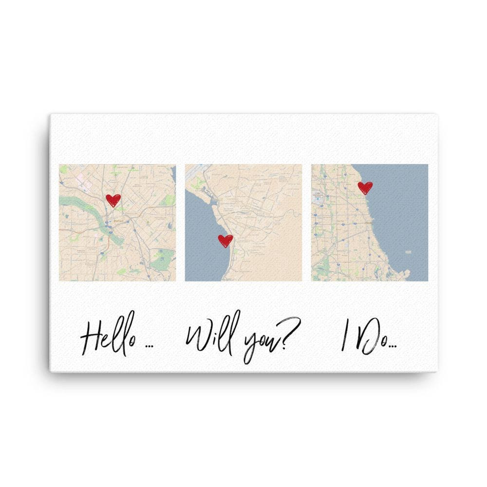 Good First Wedding Anniversary Gifts: First Anniversary Wedding Gift 1st Anniversary Gift Canvas