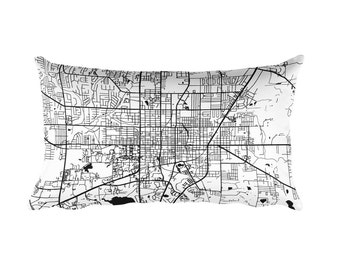 Gainesville Pillow, Gainesville Decor, Gainesville Throw Pillow, Gainesville Gift, Gainesville Map, Gainesville Art, Gainesville FL, Cushion